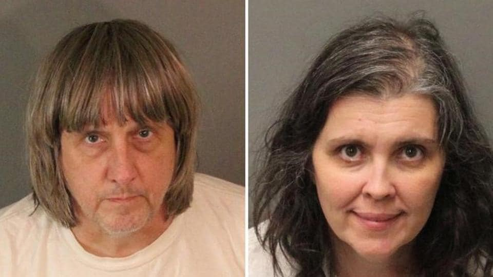 A combination photo of David Allen Turpin and Louise Ann Turpin as they appear in booking photos provided by the Riverside County Sheriff's Department in Riverside County, California.