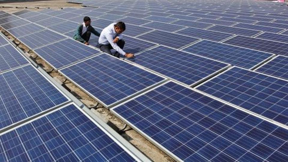 Solar power plant in Thane.