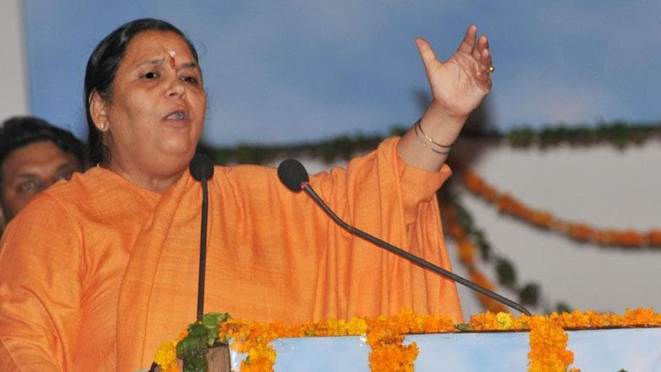 Union water resources minister Uma Bharti was the chief minister of Madhya Pradesh between December 2003 and August 2004.