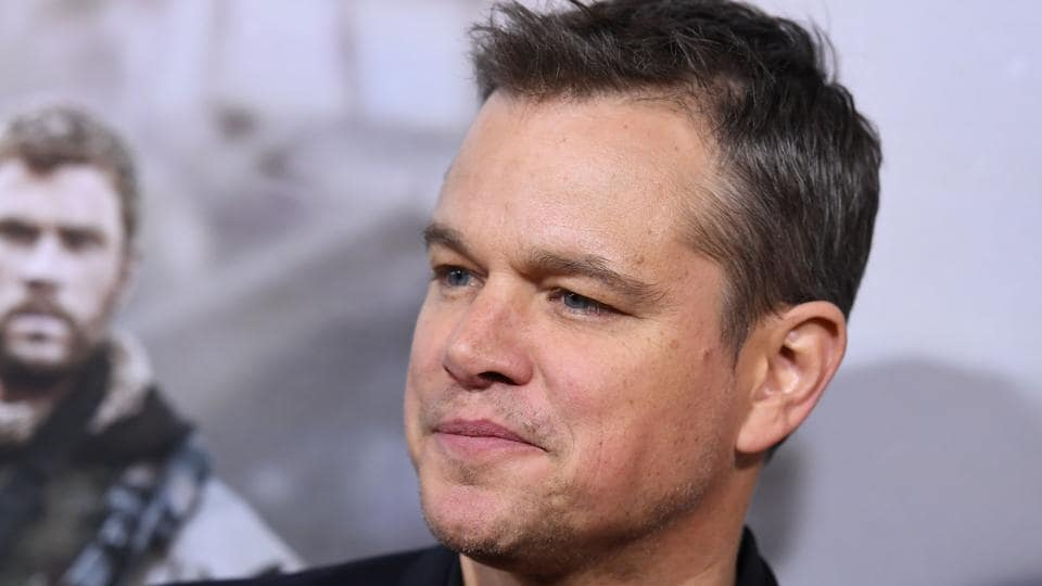 Actor Matt Damon attends the world premiere of 12 Strong at Jazz at Lincoln Centre.