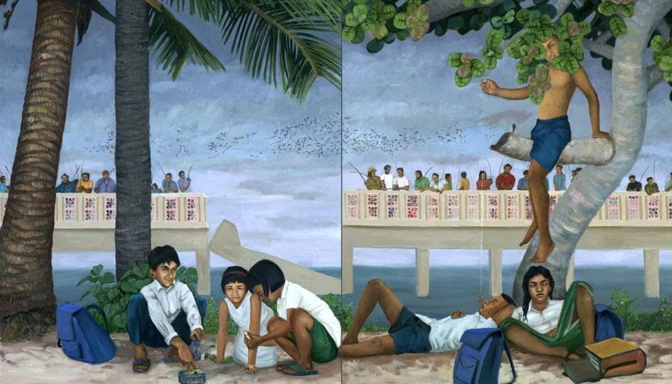 KP Reji's 'Fishes under the Broken Bridge'