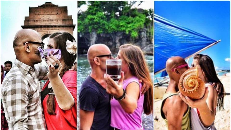 Indo-Ukrainian couple,Shyam and Anya,#kissisit
