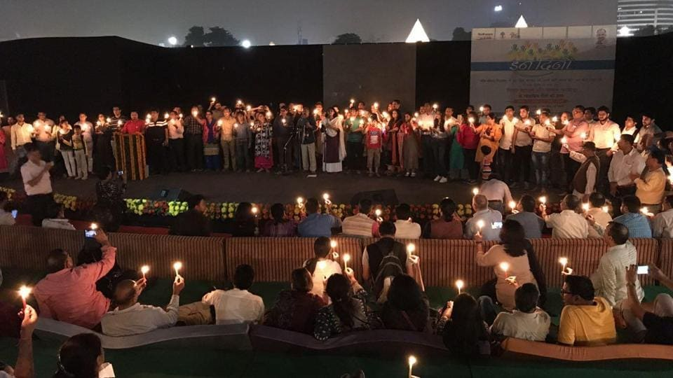 The first 'Voice of People' concert was held on October 28 with a performance by activist couple, Vinay Mahajan and Charul Bharwada, at Central Park in Connaught Place.