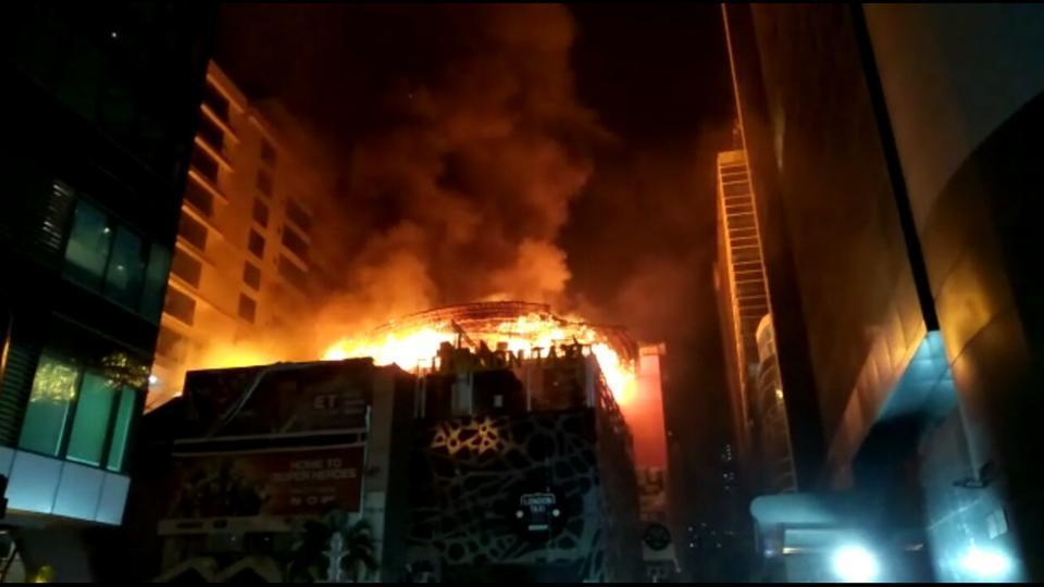The two restaurants that caught fire Mojo's Bistro and 1Above were located inside Kamala Mills Compound in central Mumbai.