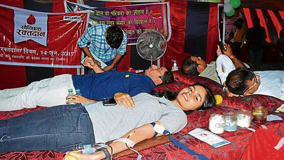 In all, 94,657 voluntary donations took place at four blood banks in Chandigarh during the last fiscal, for which the data has been gathered. There were only 5,832 women donors.
