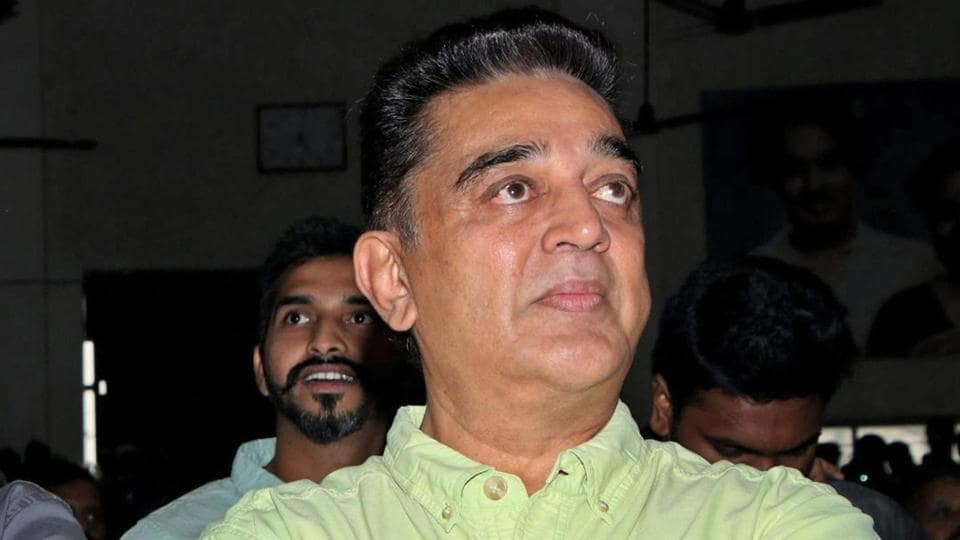 Actor Kamal Haasan at the launch of Kizhakku Africavil Raju in Chennai on Wednesday.