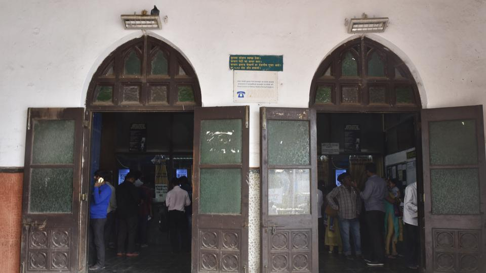 "Recently, a book drawn by British era railway engineers was also found that included original designs of the suburban railway stations, including Byculla, Sion, Kurla and Ghatkopar. ""We are working with a corporate firm to restore the station to its old glory,"" said a Central Railway official. (Anshuman Poyrekar / HT Photo)"