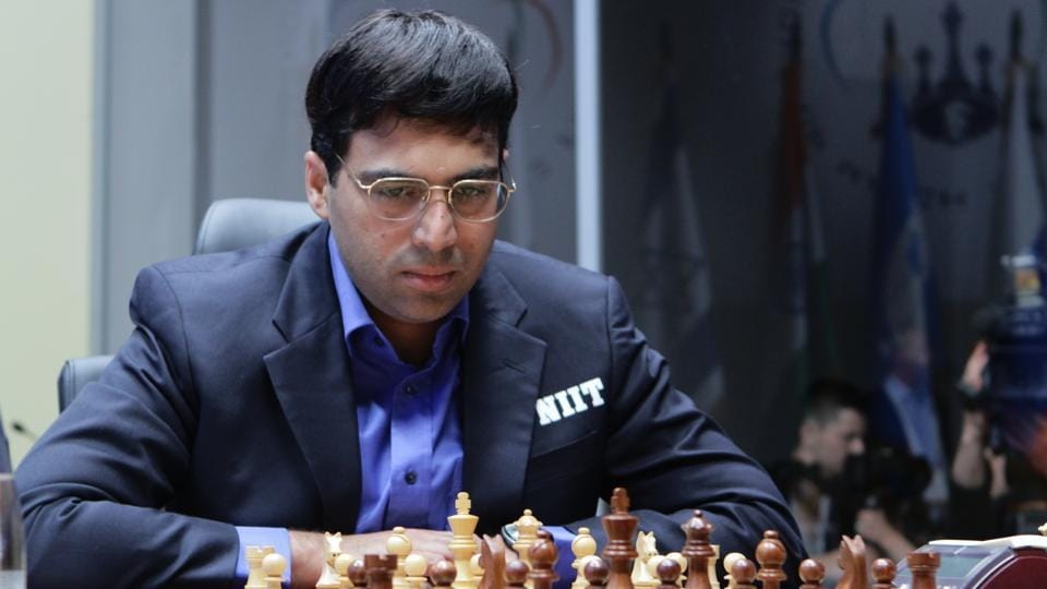 Viswanathan Anand is in the lead at the Tata Steel Masters Chess.