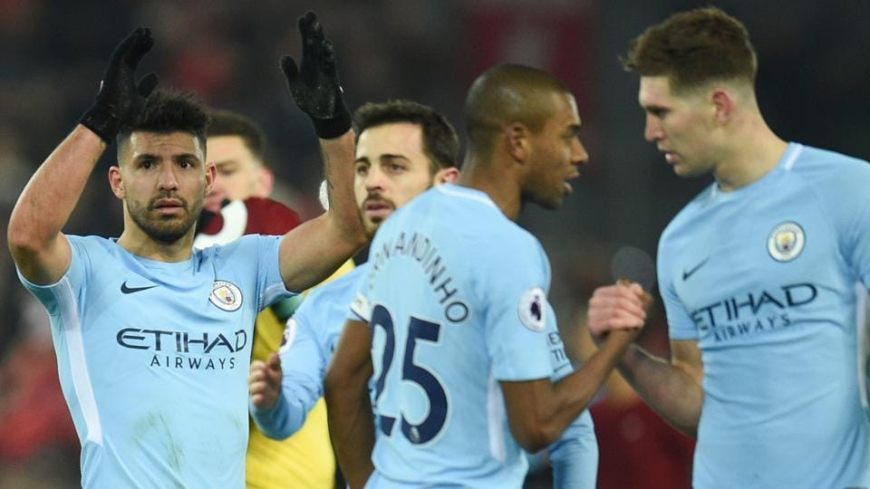 Manchester City were beaten 4-3 by Liverpool in their last Premier League game.