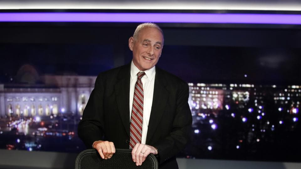 White House chief of staff John Kelly appears on Special Report with Bret Baier on Fox News in Washington on Wednesday.