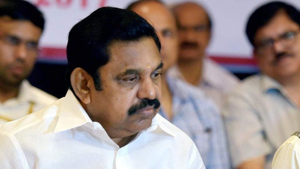 Tamil Nadu chief minister K Palaniswami in Chennai.