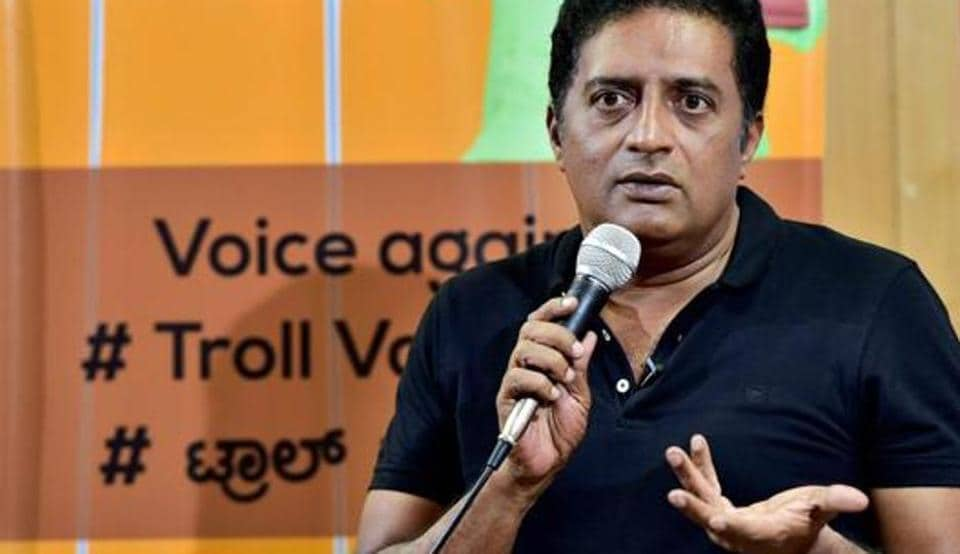 After Prakash Raj event, BJP workers sprinkle cow urine for 'cleansing'