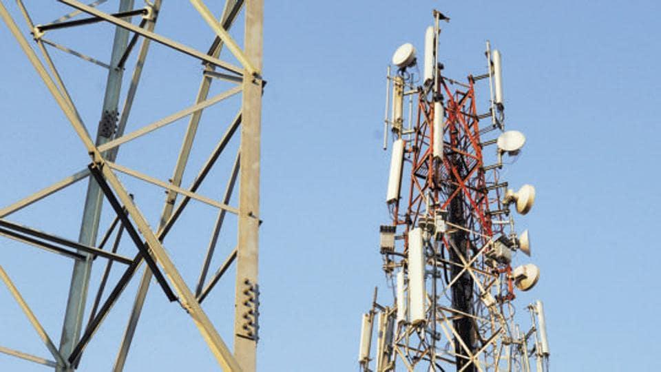 Telecom towers in Faridabad.
