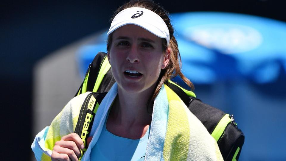 Britain's Johanna Konta was another seed to bite the dust after going down in her women's singles second round match to Bernarda Pera of the United States. (AFP)