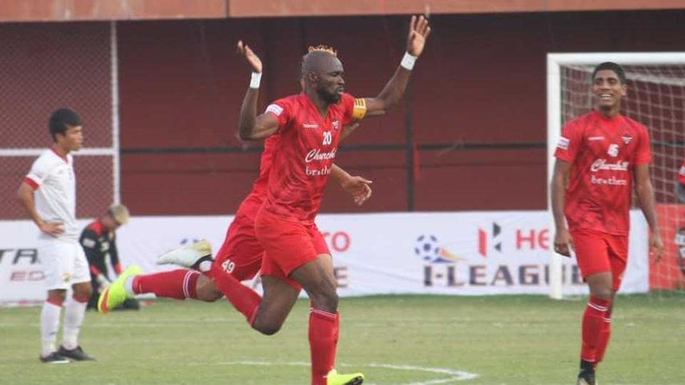Churchill Brothers got their first home win and second win overall of the I-League season with a 2-0 victory over Shillong Lajong in Goa today.