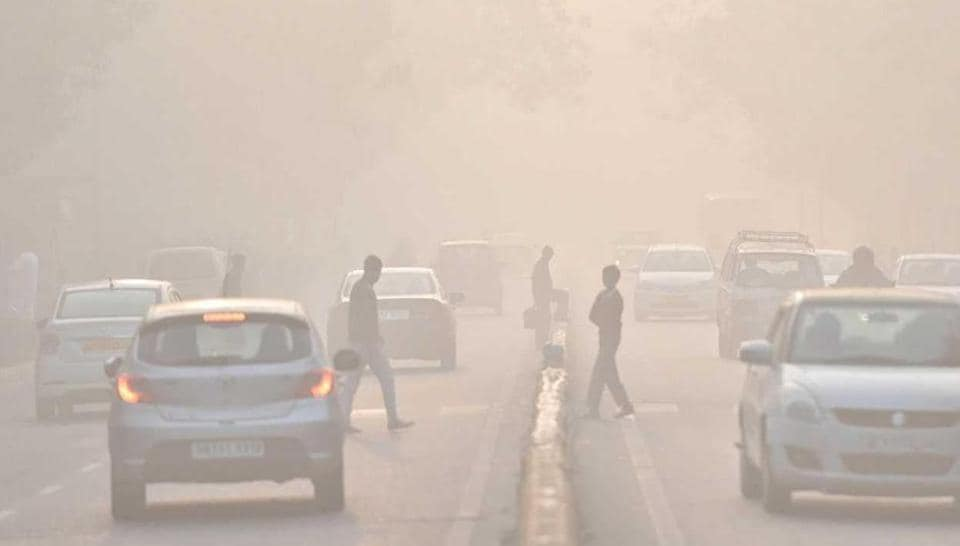 Delhi was covered in a thick blanket of fog on Friday morning.