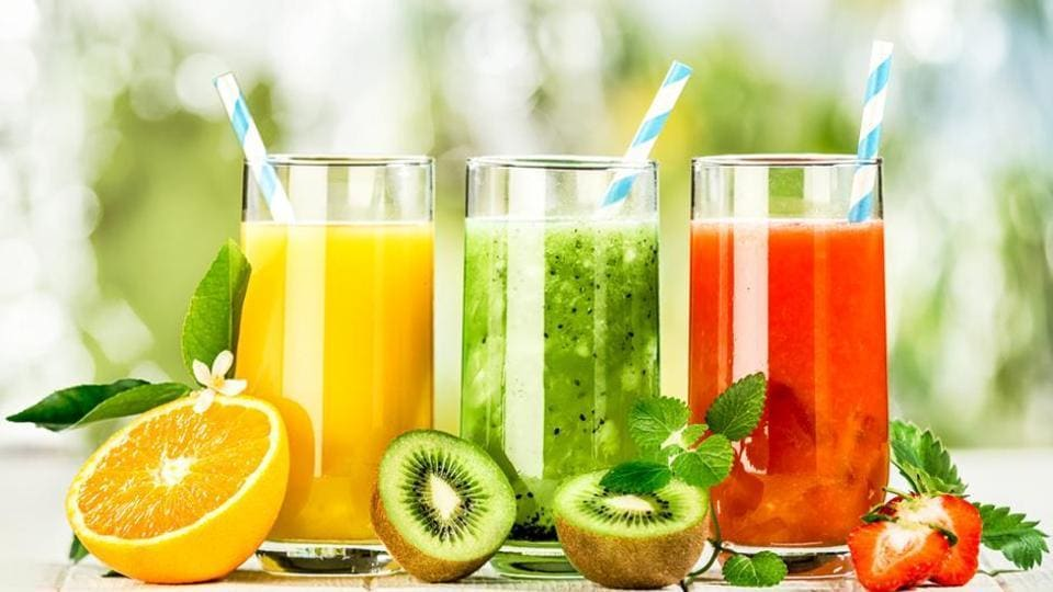 A 120ml (approx.) glass of 100% juice counts as one serving (1/2 cup) of fruit.