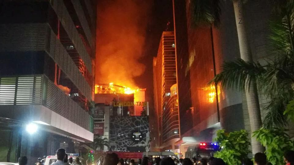 Fire erupted in Kamala Mills Compound on December 29.