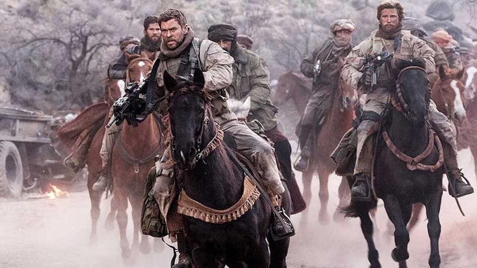 Under the leadership of a gung-ho captain (Chris Hemsworth), a 12-member American special forces team is tasked with wiping out a Taliban stronghold.