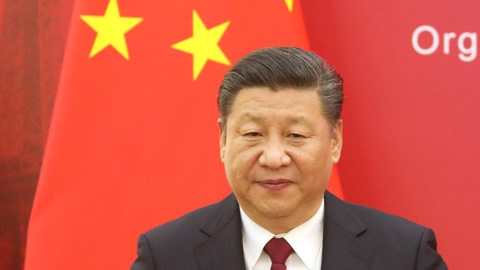 Chinese President Xi Jinping speaks at an event in Beijing.