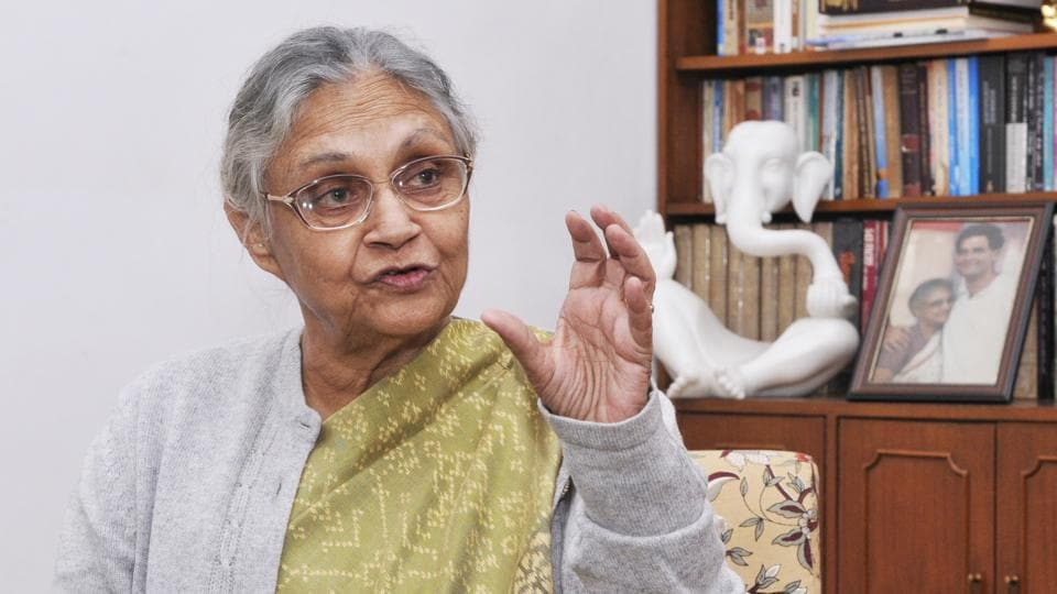 """Former Delhi chief minister Sheila Dikshit is coming out with her autobiography, """"Citizen Delhi: My Times, My Life"""", published by Bloomsbury India. The memoir unfolds why the Congress lost Delhi in the last assembly elections and is to be released at the 11th edition of Jaipur Literary Festival.  (Vipin Kumar / Hindustan Times)"""
