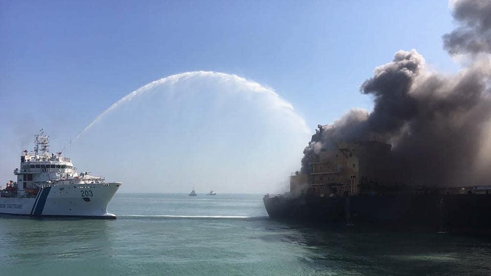 oil tanker,Gujarat coast,MT Genessa