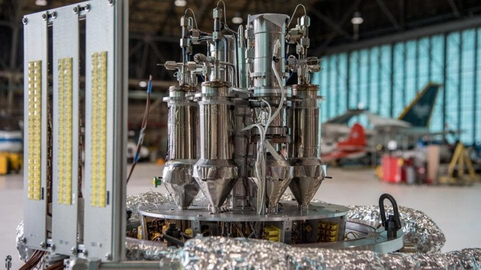 Mars fission power system concept in the Kilopower project is shown in this undated NASA handout photo released on January 9, 2018.