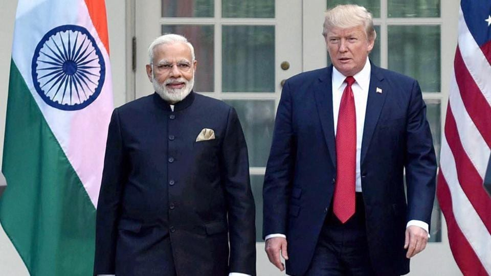 Prime Minister Narendra Modi meeting the President of United States of America Donald Trump, at the Joint Press Statement, at White House, in Washington DC, USA on June 27, 2017.