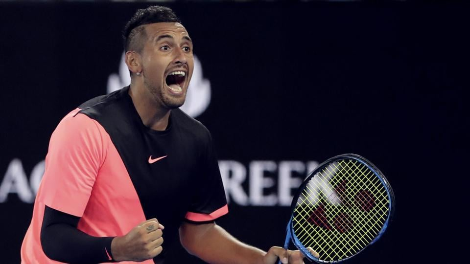 Nick Kyrgios (AUS x17) defeated Jo-Wilfried Tsonga (FRA x15) 7-6 (7/5), 4-6, 7-6 (8/6), 7-6 (7/5). (AP)