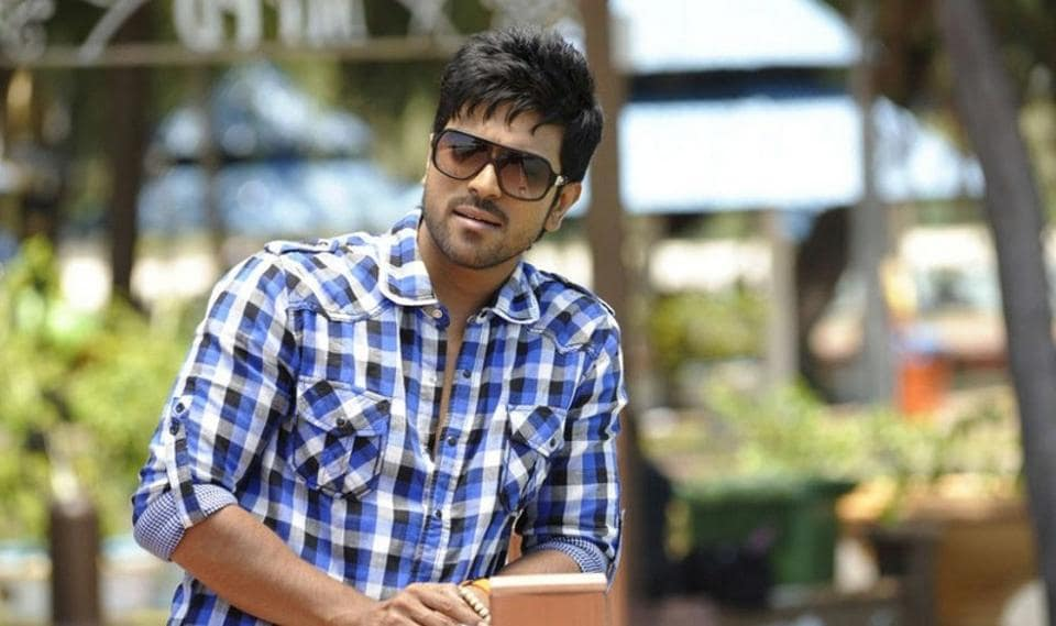 Ram Charan shared pictures  from Rangasthalam puja and shoot in Rajamundhry, Andhra Pradesh.