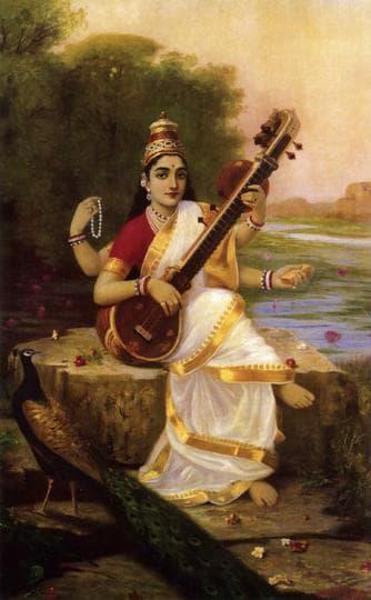Raja Ravi Varma's Sarasvati.