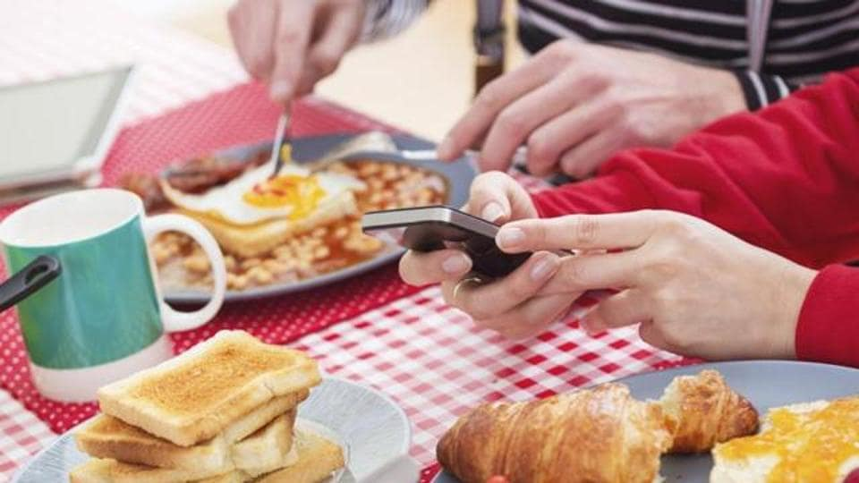 Screen time during mealtimes is now common for the vast majority of families in Britain.