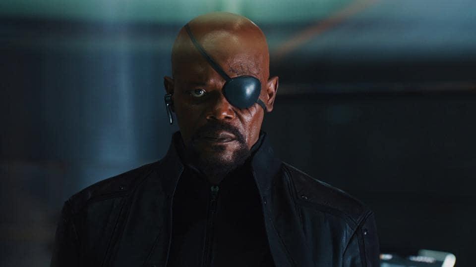 Nick Fury,Captain Marvel,Brie Larson