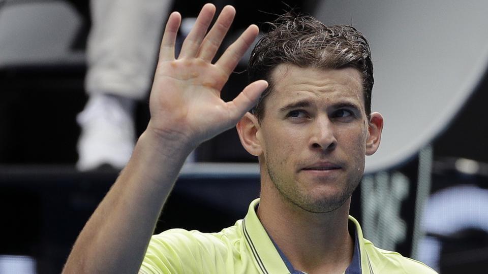 Dominic Thiem defeated Adrian Mannarino 6-4, 6-2, 7-5 in the third round of the Australian Open tennis tournament.