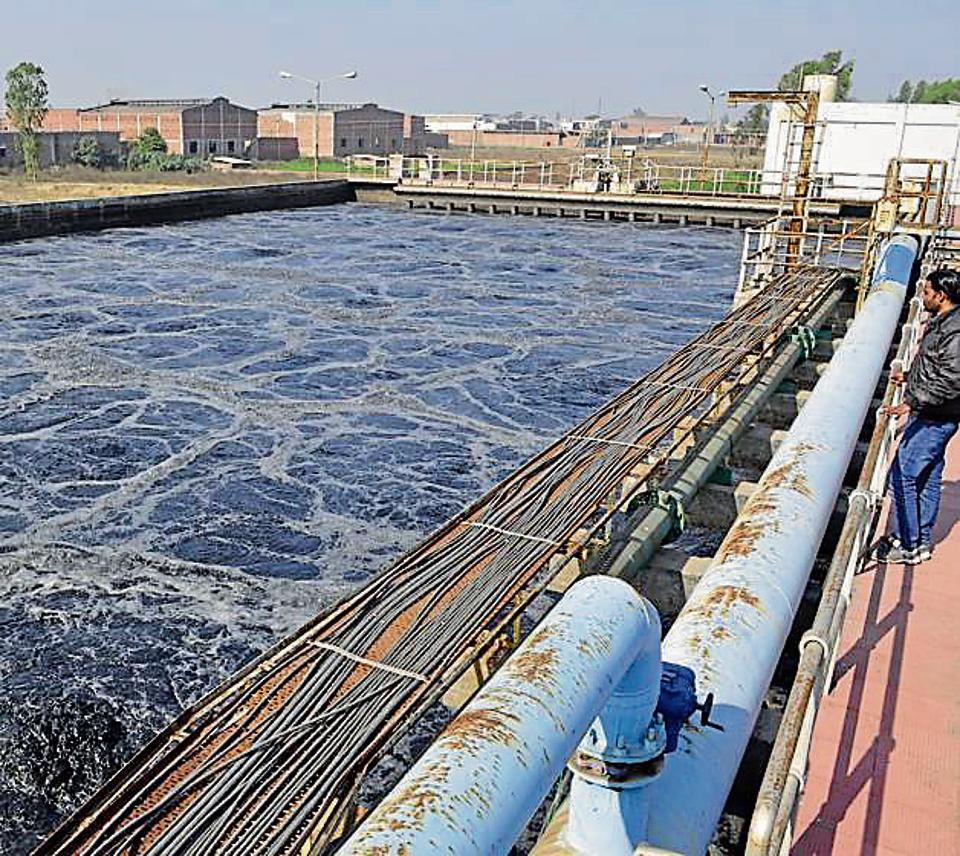 The water treatment plant at leather complex in Jalandhar.