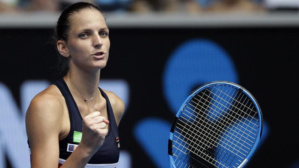 Karolina Pliskova also had a tough test, beating fellow Czech Lucie Safarova 7-6 (8/6), 7-5. (AP)