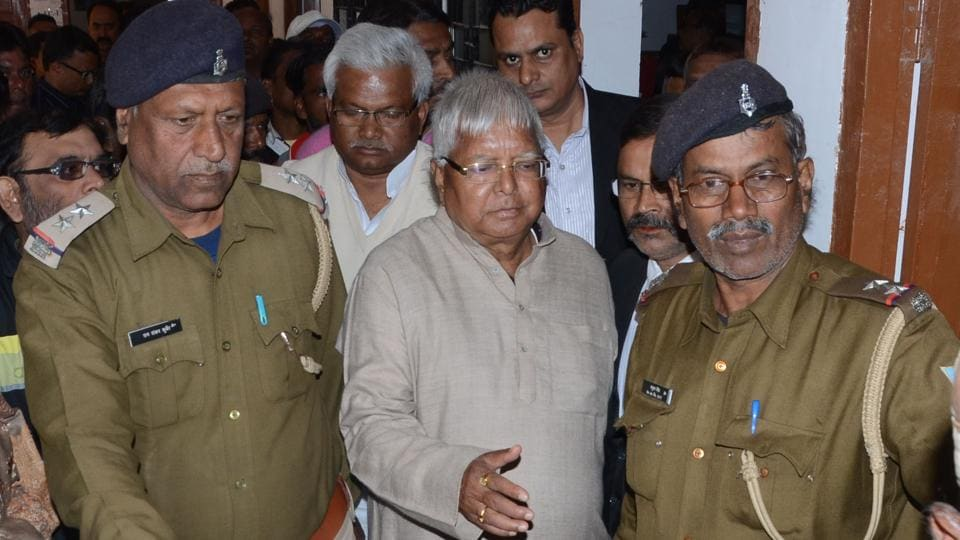 Former Bihar chief minister Lalu Prasad appeared in a special CBI court of Ranchi in connection with another fodder scam case.