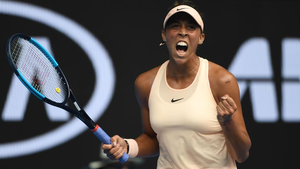 Madison Keys will play the winner of the match between Aliaksandra Sasnovich and eighth-seeded Caroline Garcia in the fourth round of the Australian Open tennis tournament.