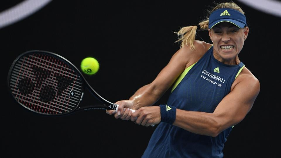 Maria Sharapova was no match for Angelique Kerber who clinched the match 6-1, 6-3. (AFP)
