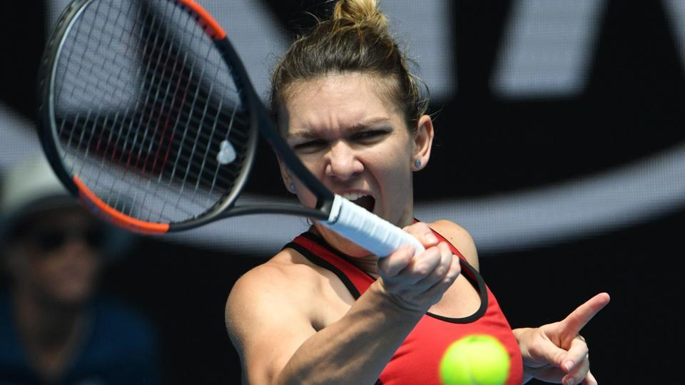 Simona Halep survived three match points in a titanic struggle against 76th-ranked American Lauren Davis. (AFP)