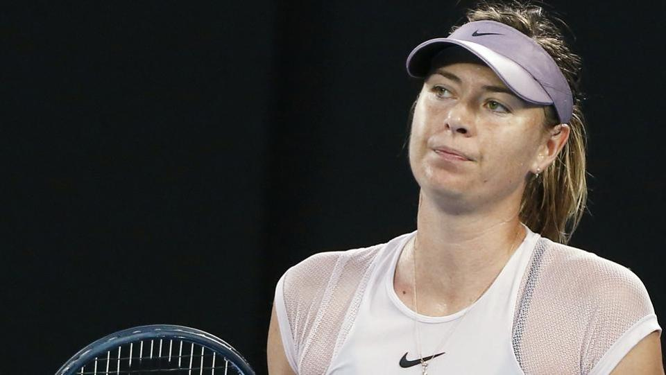 Maria Sharapova lost 1-6, 3-6 to Angelique Kerber in the third round of the Australian Open tennis tournament.
