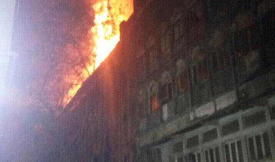 The fire started on the top floor of the four-storey building in Todi Mills, Lower Parel, early on Friday.