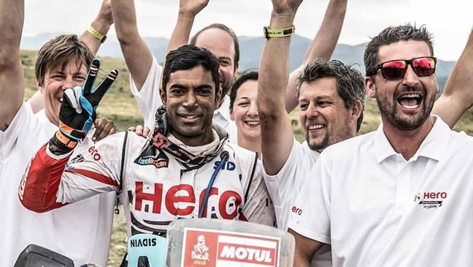 CS Santosh put up a memorable show  in his fourth year at the Dakar Rally and second year with the Hero Motosports.