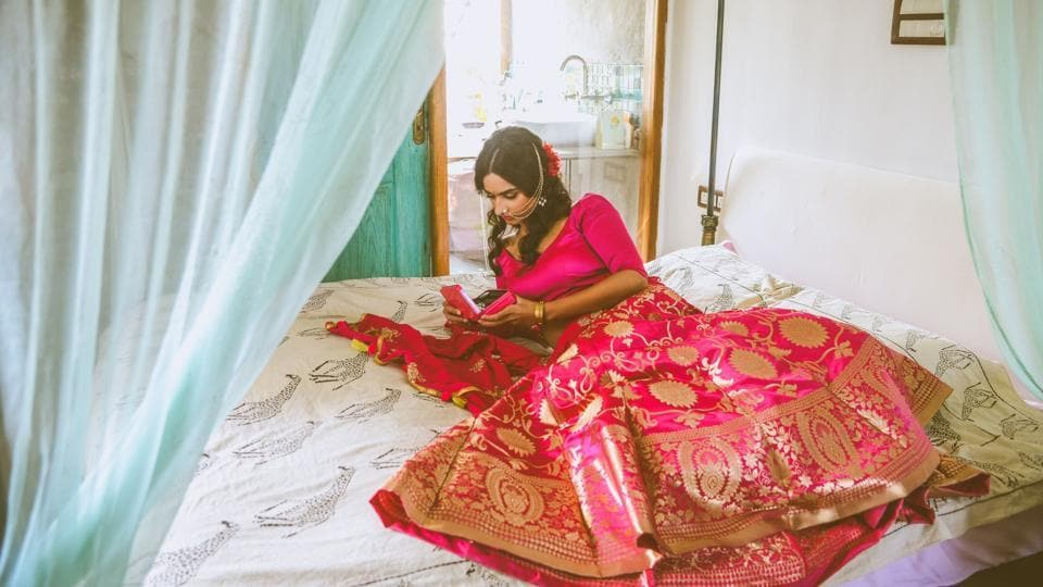 Textile is in focus for new-age brides.