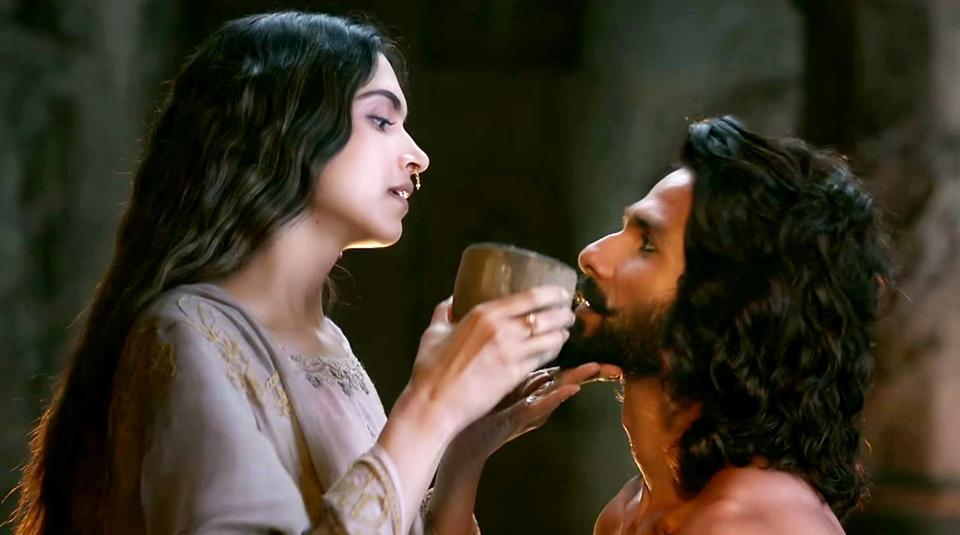 Deepika Padukone and Shahid Kapoor in a still from Padmaavat.