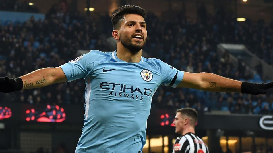 Sergio Aguero scored a hat-trick as Manchester City restored their 12-point lead at the top of the Premier League with a 3-1 win at over Newcastle United.