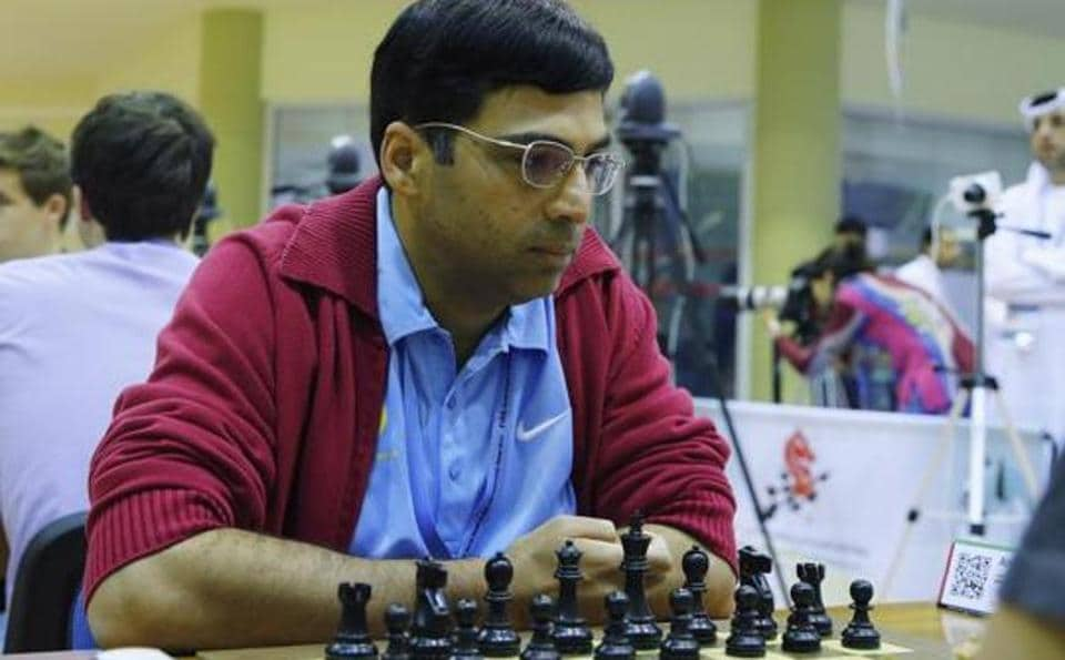 Vishnathan Anand and Peter Svidler played out a draw in the Tata Steel Masters chess tournament.