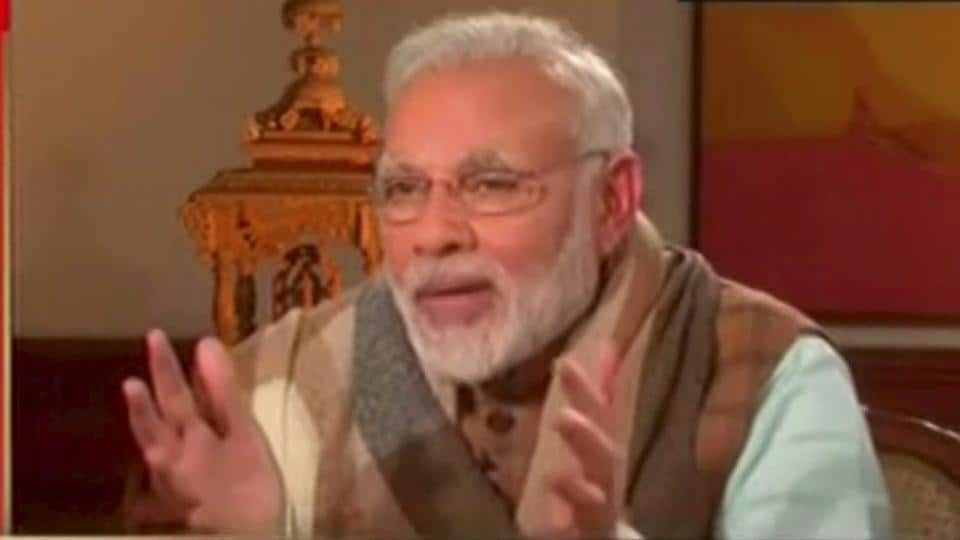 Prime Minister Narendra Modi in an interview with a TV news channel on Sunday.