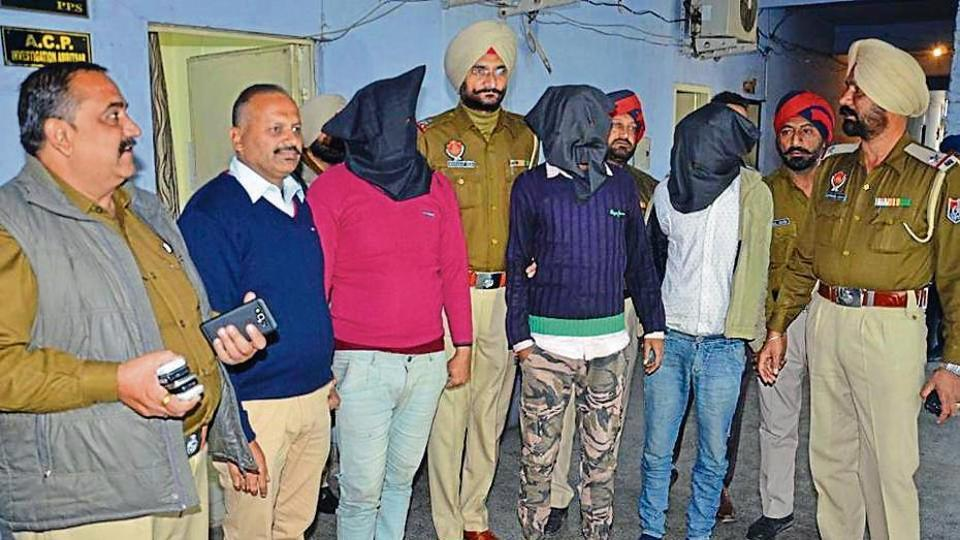 The accused in police custody in Amritsar on Sunday.