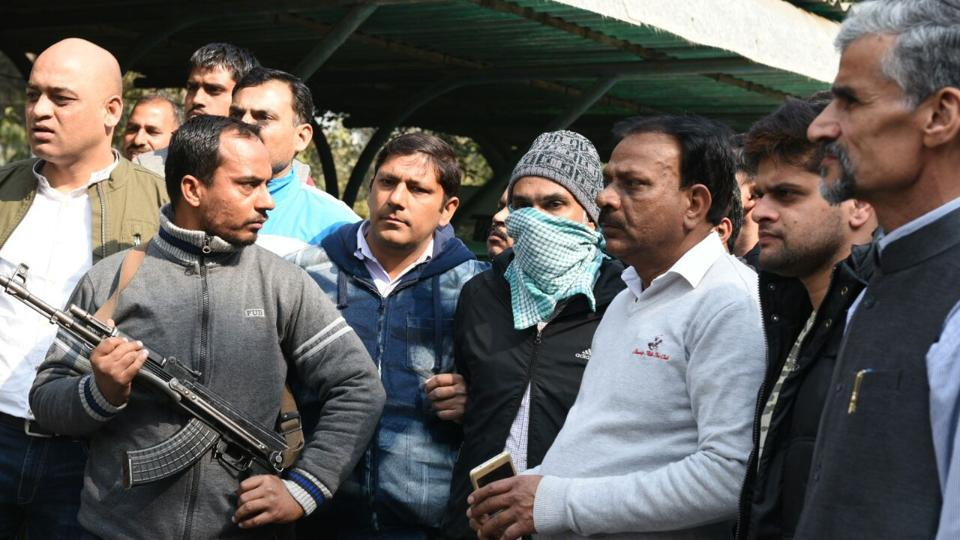 Abdul Subhan Qureshi alias Tauqeer, suspected of being involved in the serial blasts in Gujarat and Delhi in 2008, was arrested by Delhi Police after a gunfight on Monday following a tip-off. He figured in the National Investigation Agency's (NIA) most-wanted list. (Arvind Yadav / HT Photo)
